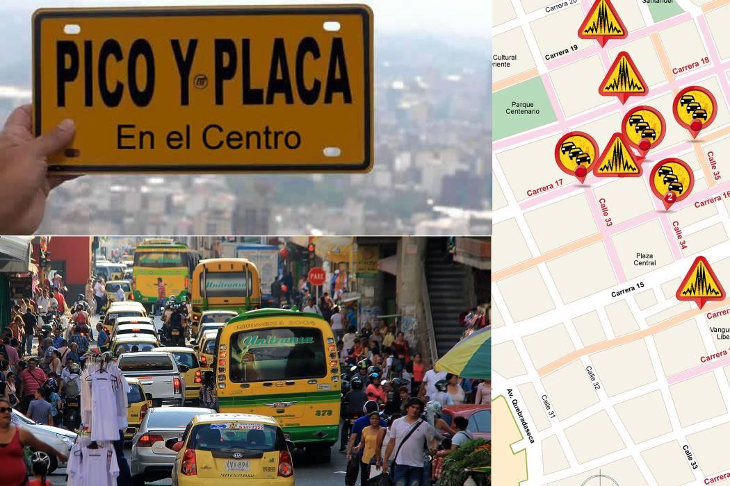 Infografías: ¿Sí es necesario el Pico y Placa en el Centro de Bucaramanga?