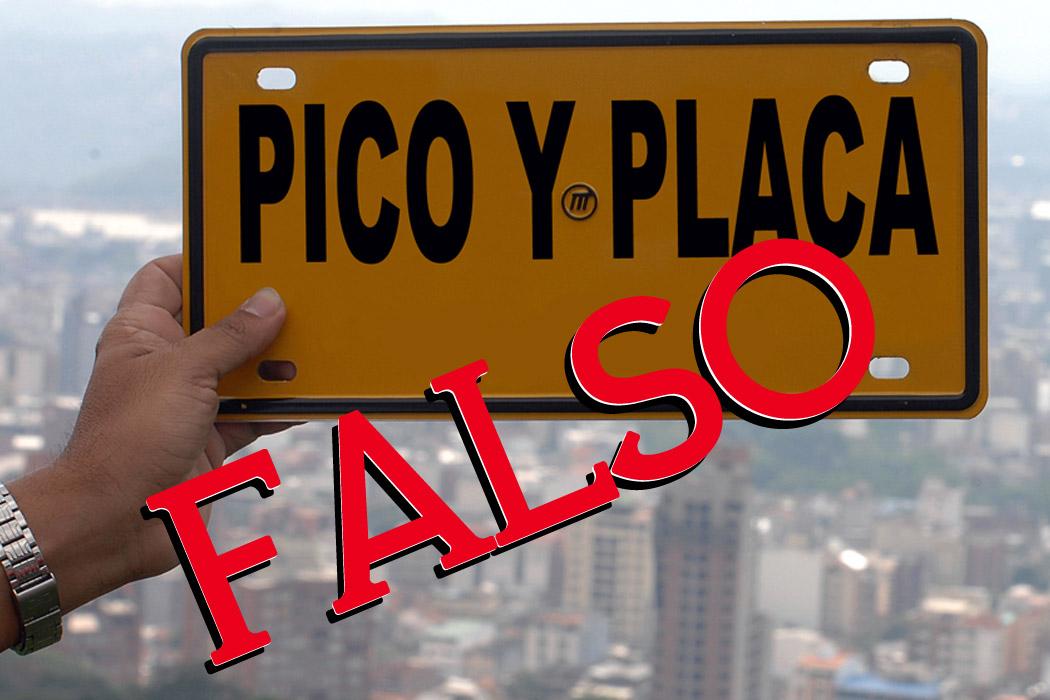 Desmienten que el 11 de mayo se implemente nuevo Pico y Placa