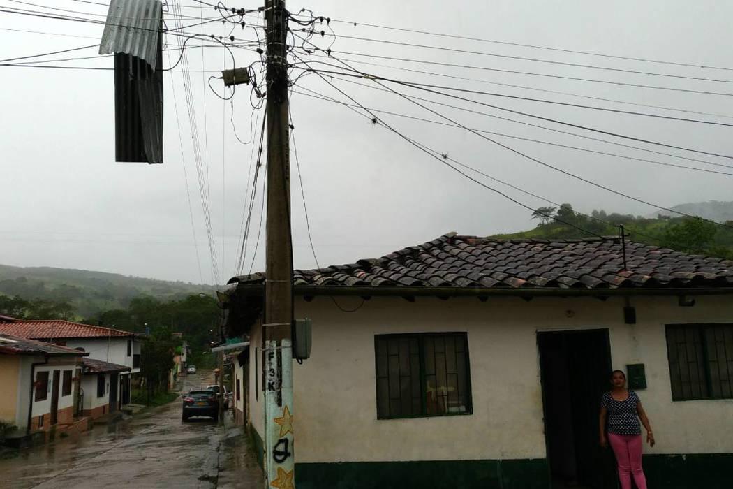 Fuerte vendaval se presentó en el municipio de Páramo