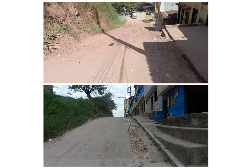 Comunidad denuncia el mal estado de la vía en la Cantera
