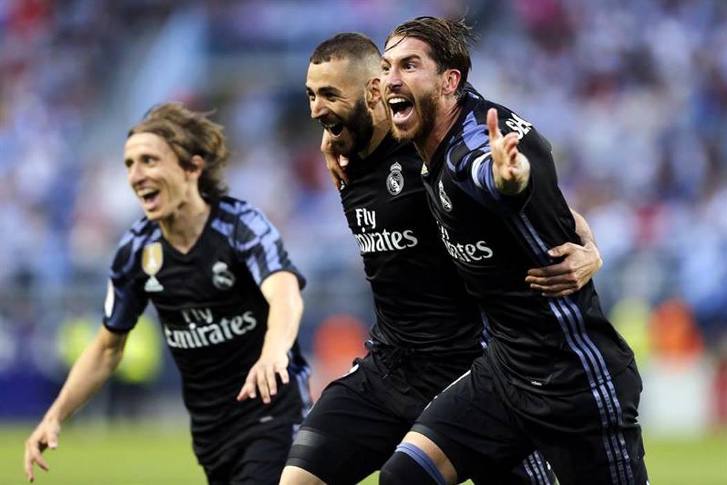 Real Madrid se coronó campeón de la Liga en España al vencer 2-0 al Málaga
