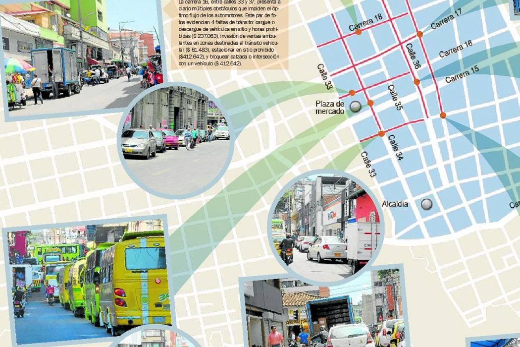 Movilidad en el Centro de Bucaramanga es un caos por falta de autoridad
