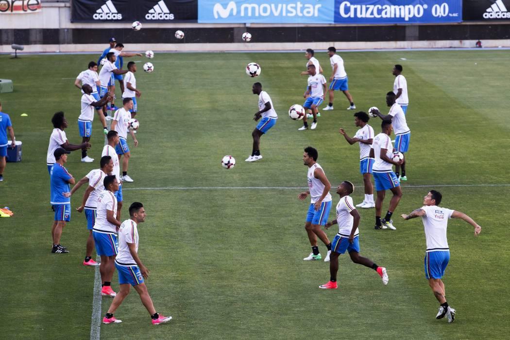 La Selección Colombia quiere salir victoriosa ante los españoles
