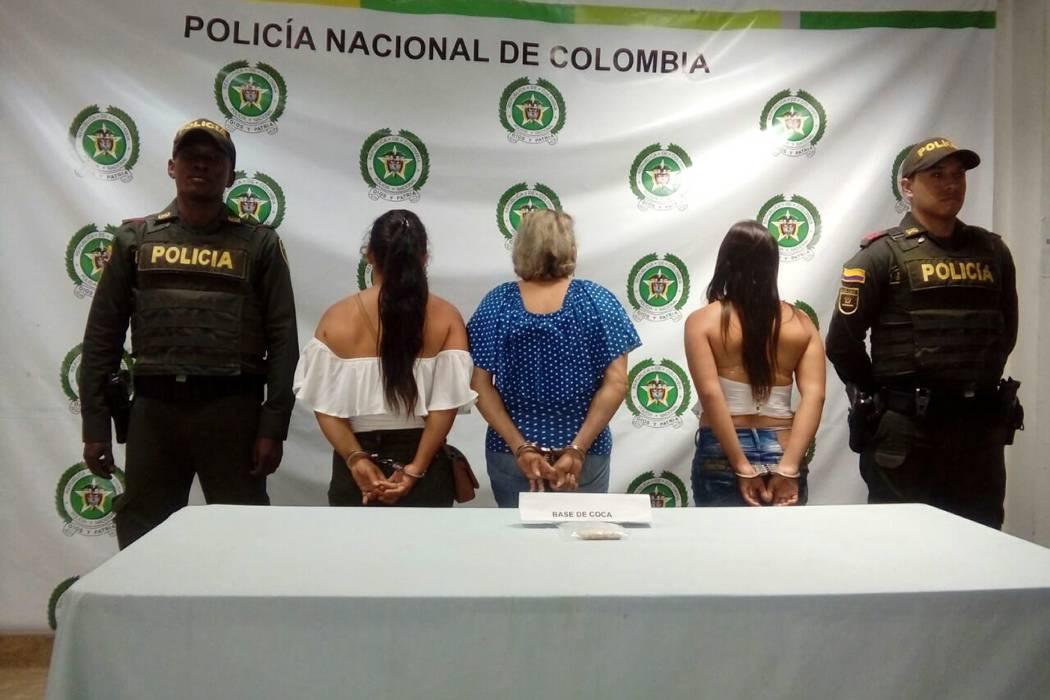 Capturan a tres mujeres por transportar cocaína en sus partes íntimas