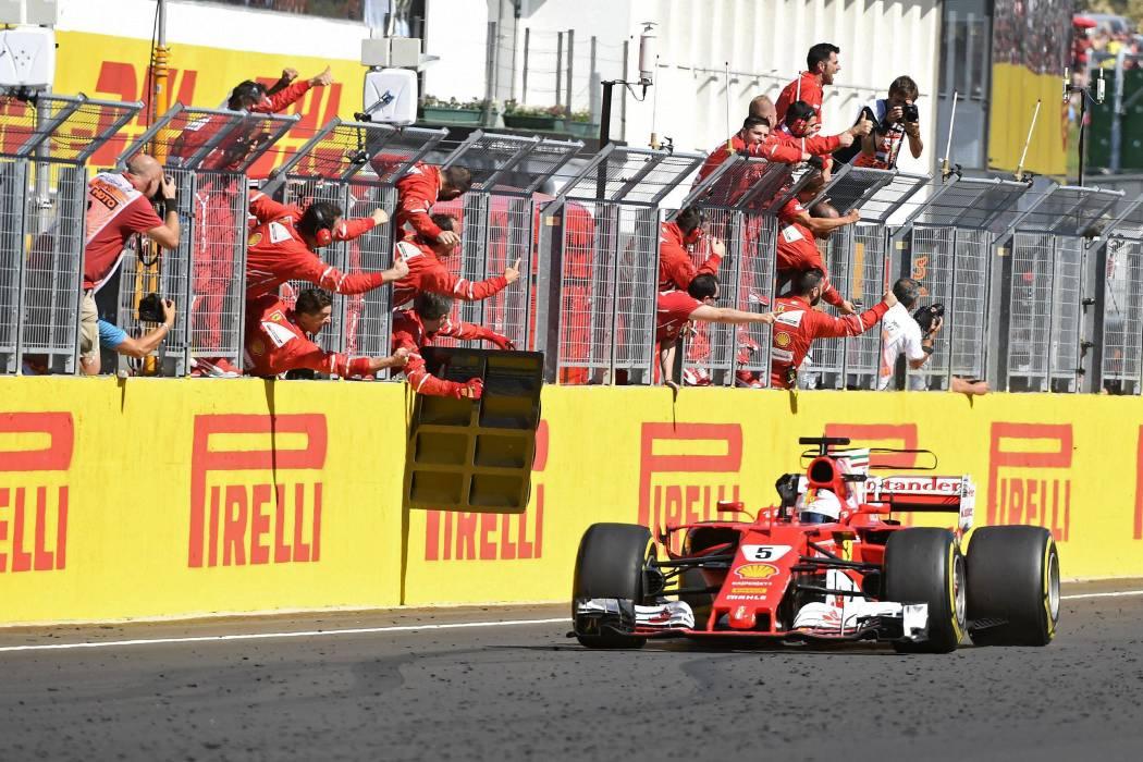 Vettel comandó el uno-dos de Ferrari en Hungría
