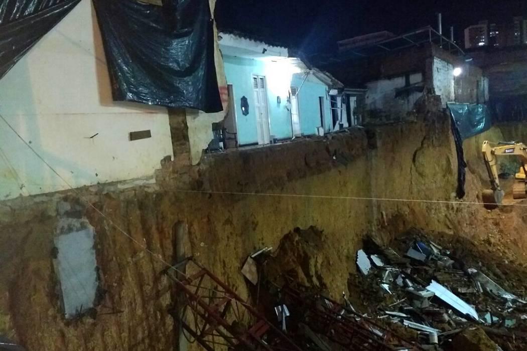 Vivienda se desplomó en barrio de Bucaramanga