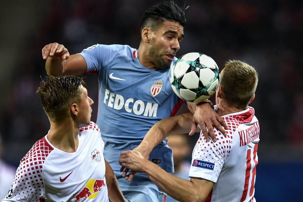 Con Falcao García como titular, Mónaco empató 1-1 con el RB Leipzig