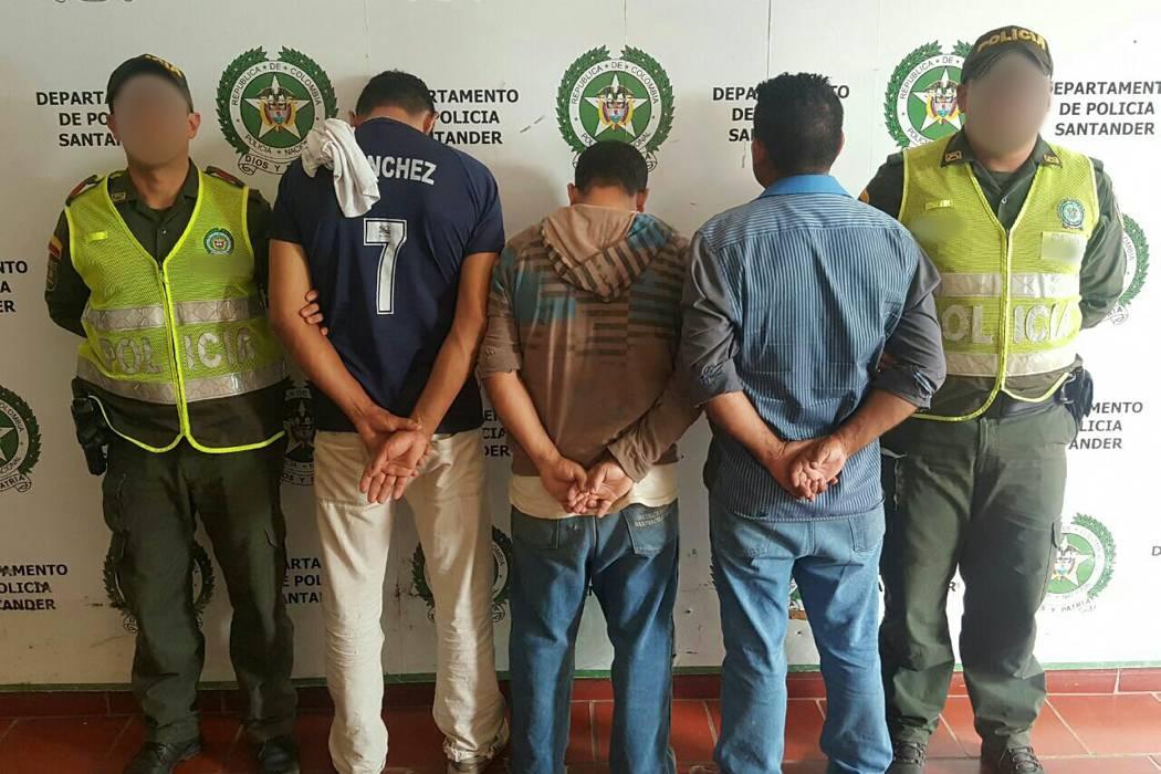 Tres hombres fueron capturados por hurto