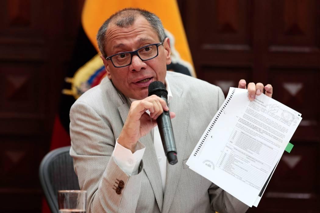 Piden prisión preventiva a vicepresidente de Ecuador