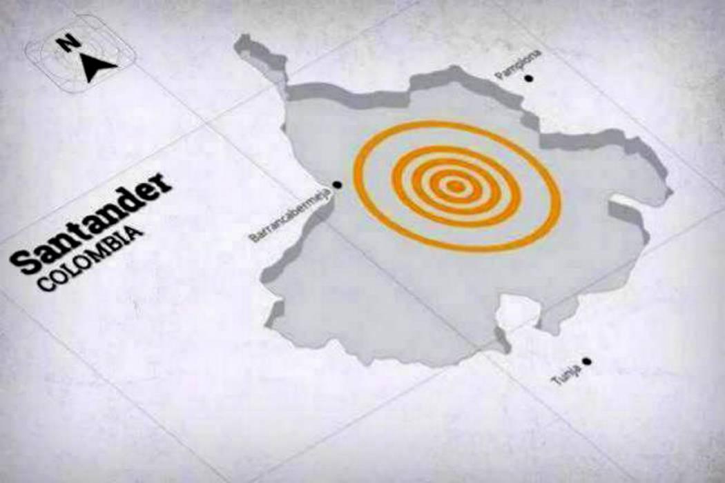 Temblor sacudió a Santander en la mañana de este jueves