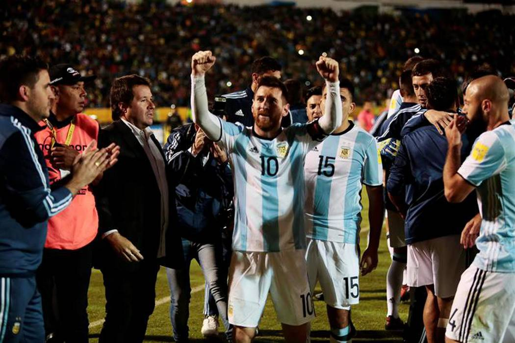 De la mano de Messi, Argentina alcanzó cupo directo al Mundial