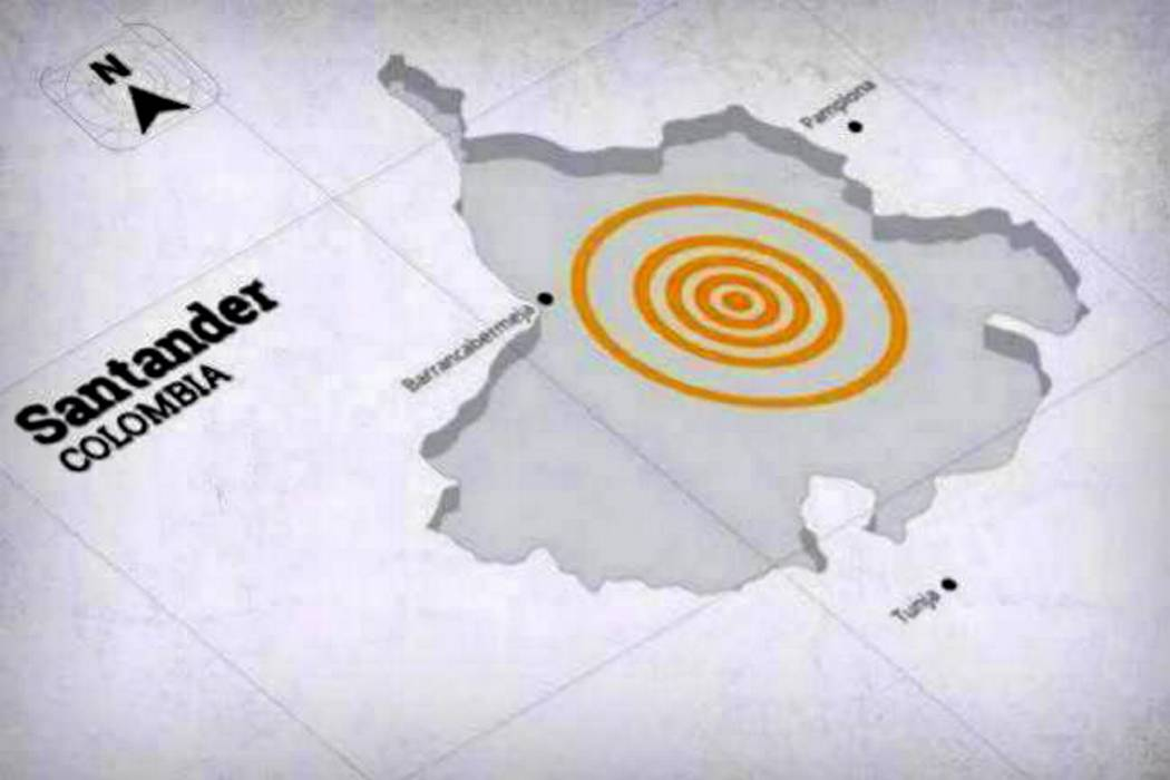 Temblor sacudió a Santander en la noche de este jueves
