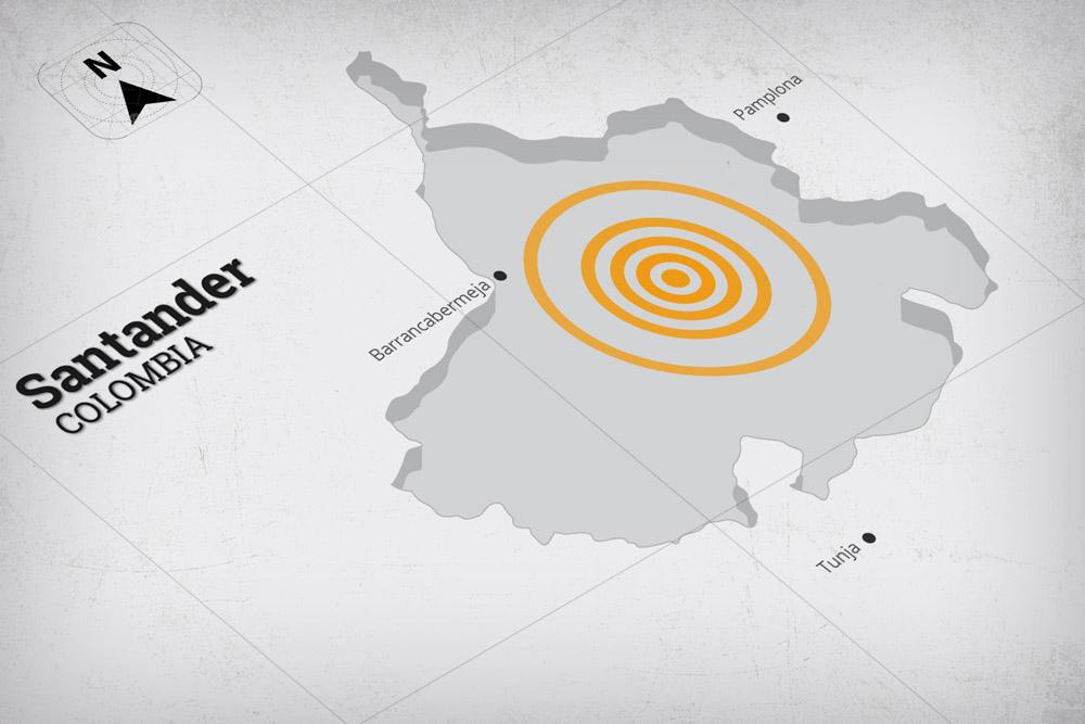 Temblor sacudió a Santander y Colombia en la madrugada de este sábado