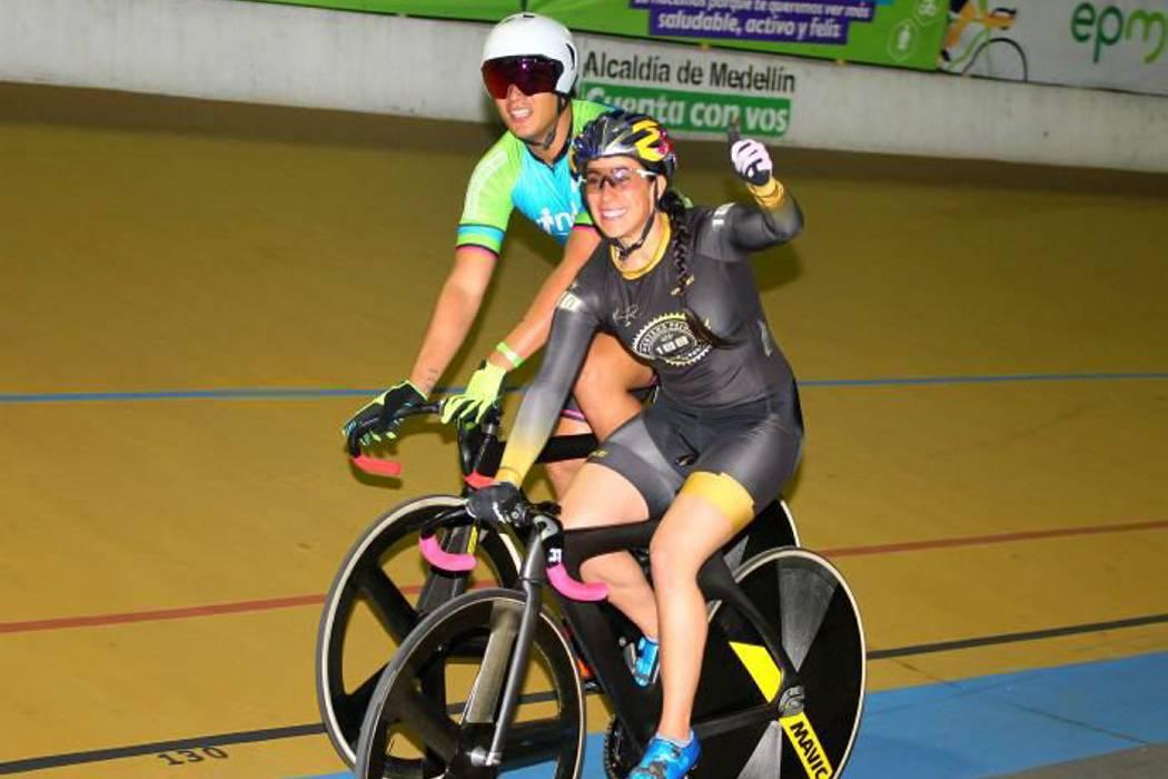 Mariana Pajón debutó y ganó en el ciclismo de pista