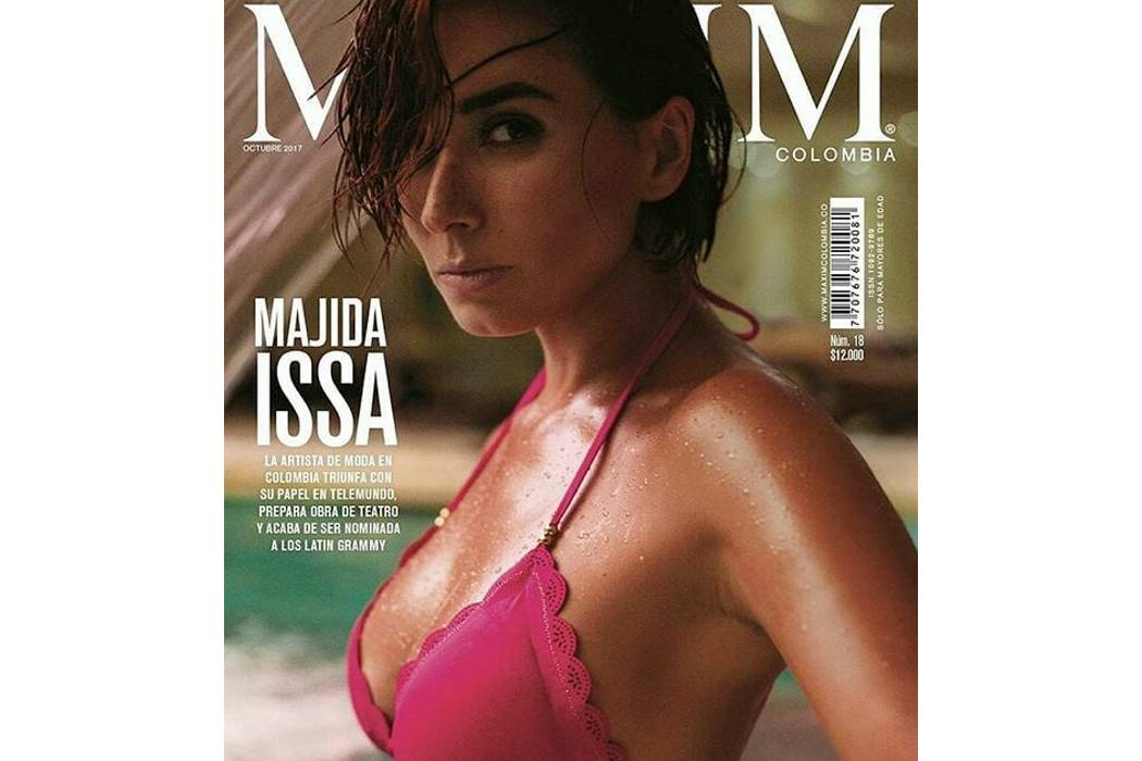 Majida Issa se desnuda  para una revista