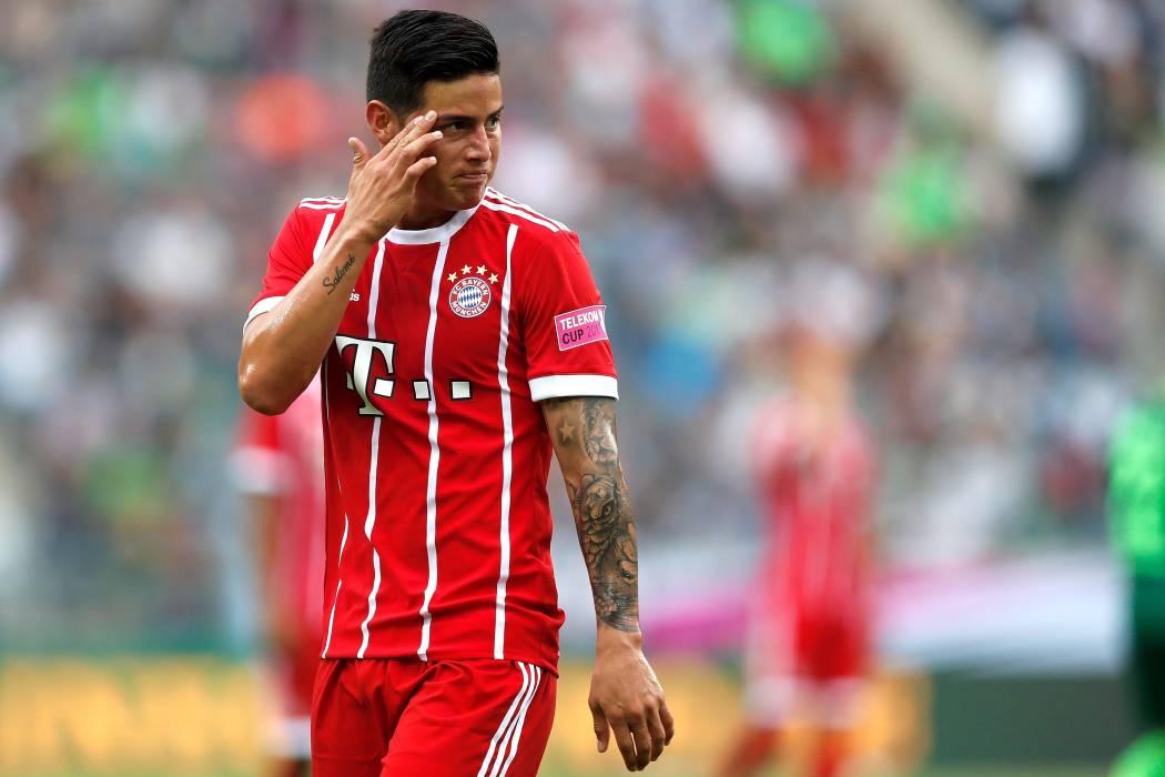 James sería titular en el Bayern ante la lesión de Müller