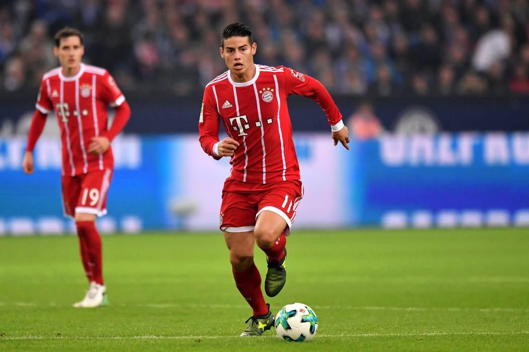 Con James de titular, Bayern clasificó a octavos de final de la Champions
