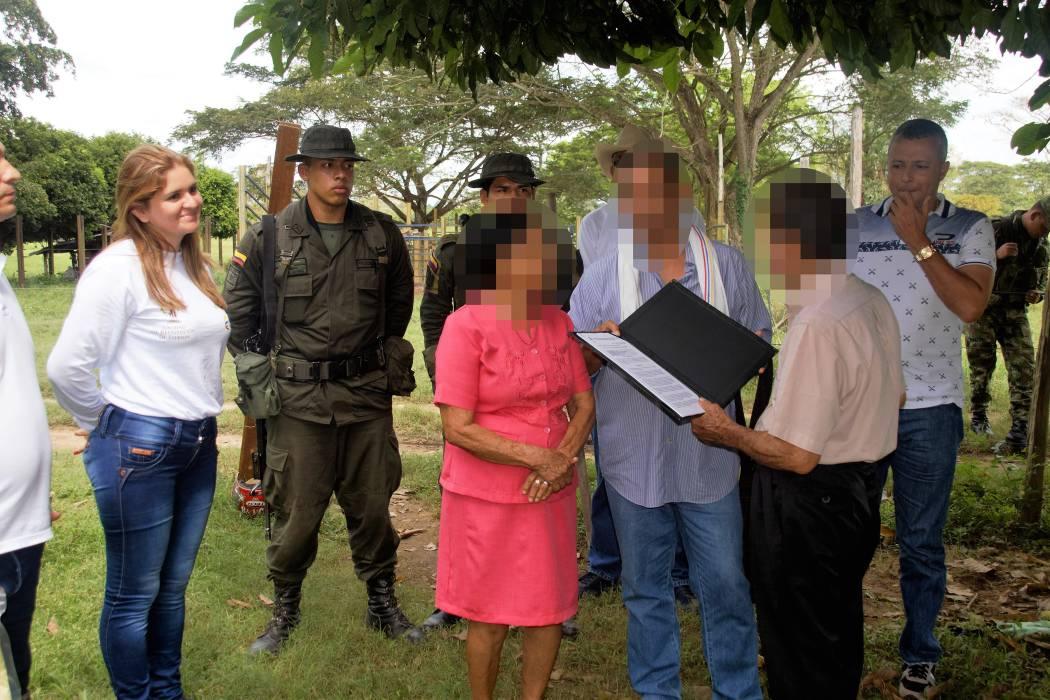 24 años después, una familia recuperó  sus tierras en la parcelación La Carolina