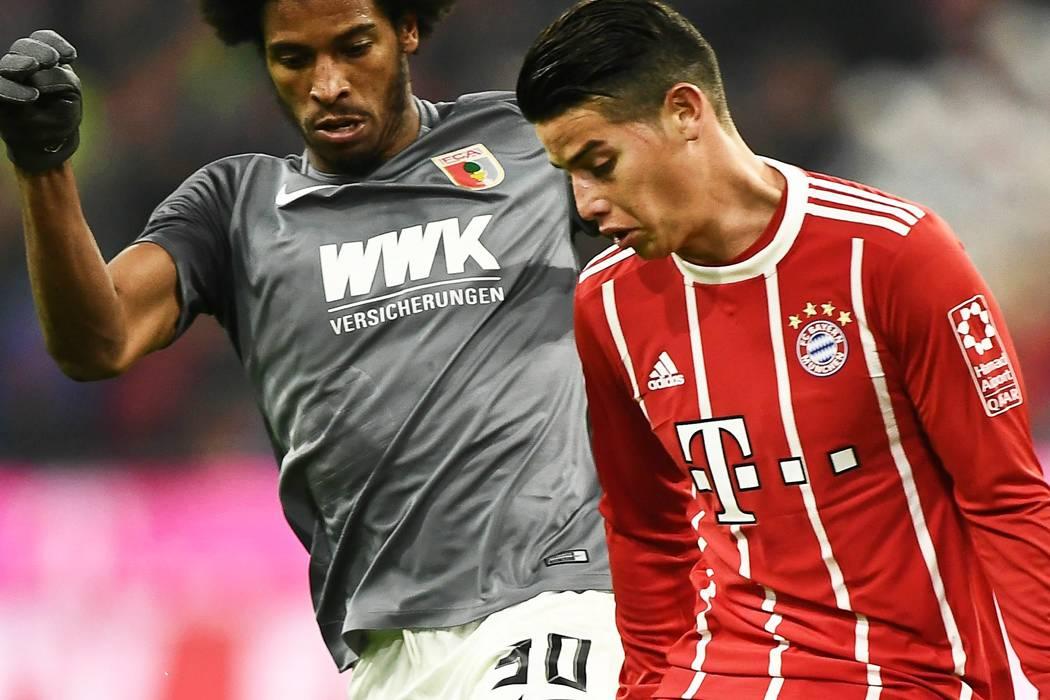 James Rodríguez, titular del Bayern ante el Mönchengladbach