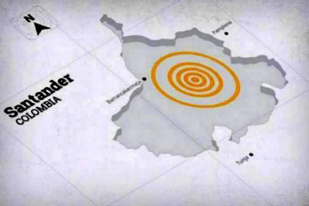 Temblor sacudió a Santander en la tarde de este martes