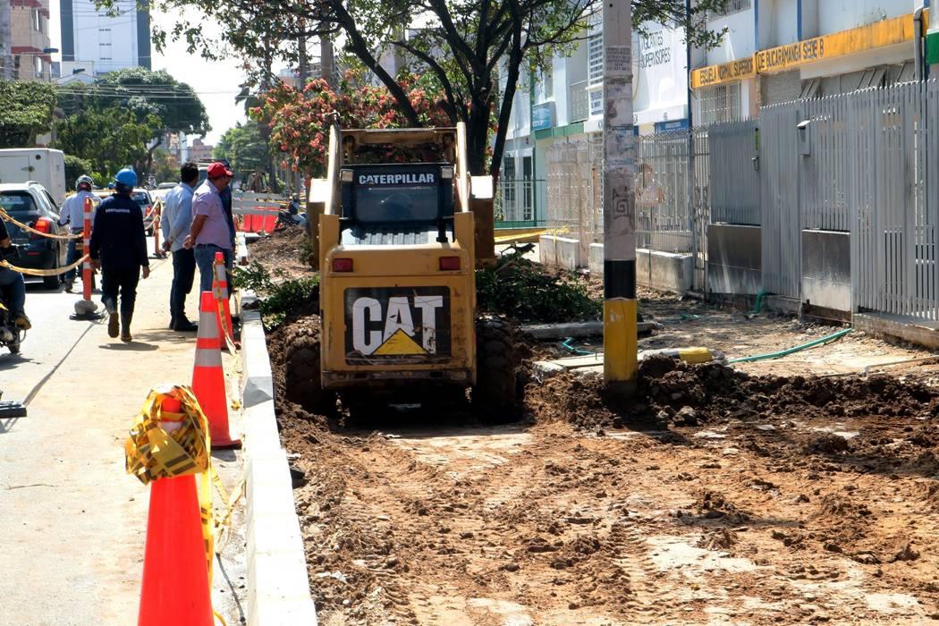 Por unos postes, obras de la ciclorruta de Bucaramanga demorarían dos meses