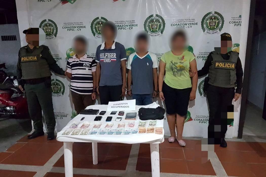 Capturados cuatro  venezolanos por hurto