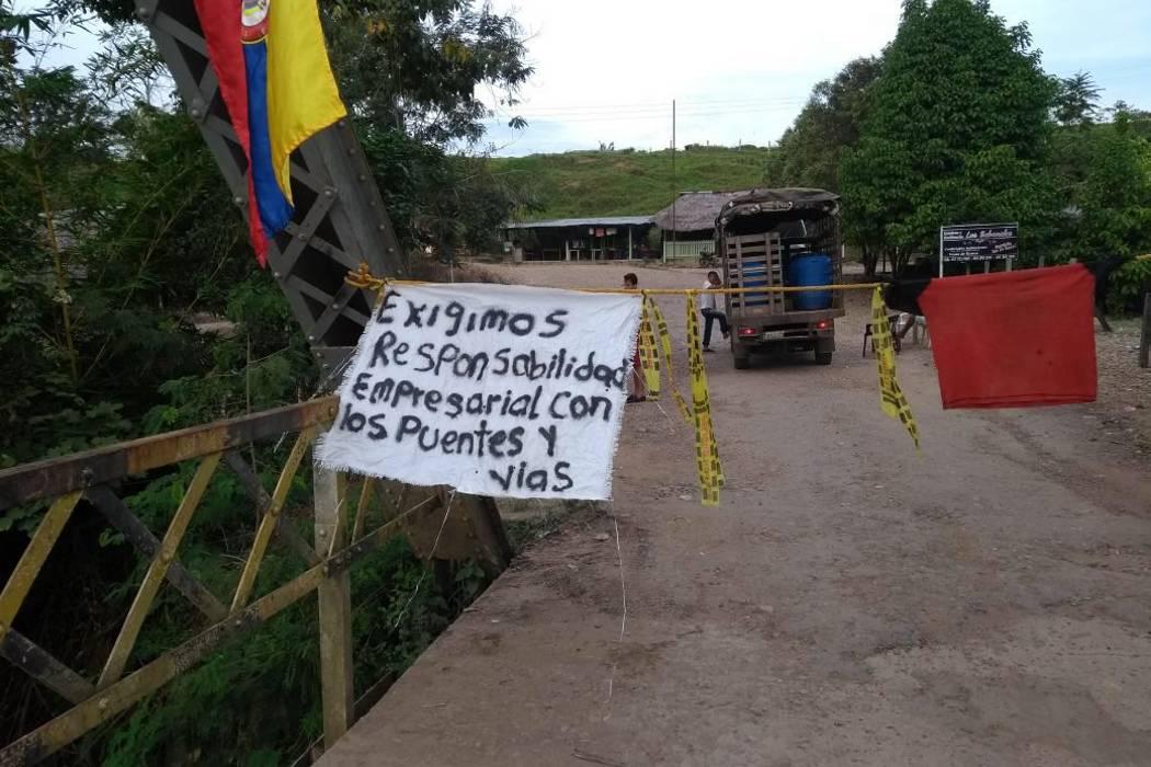 Los carros de Ecopetrol tienen prohibido el paso por La Llana