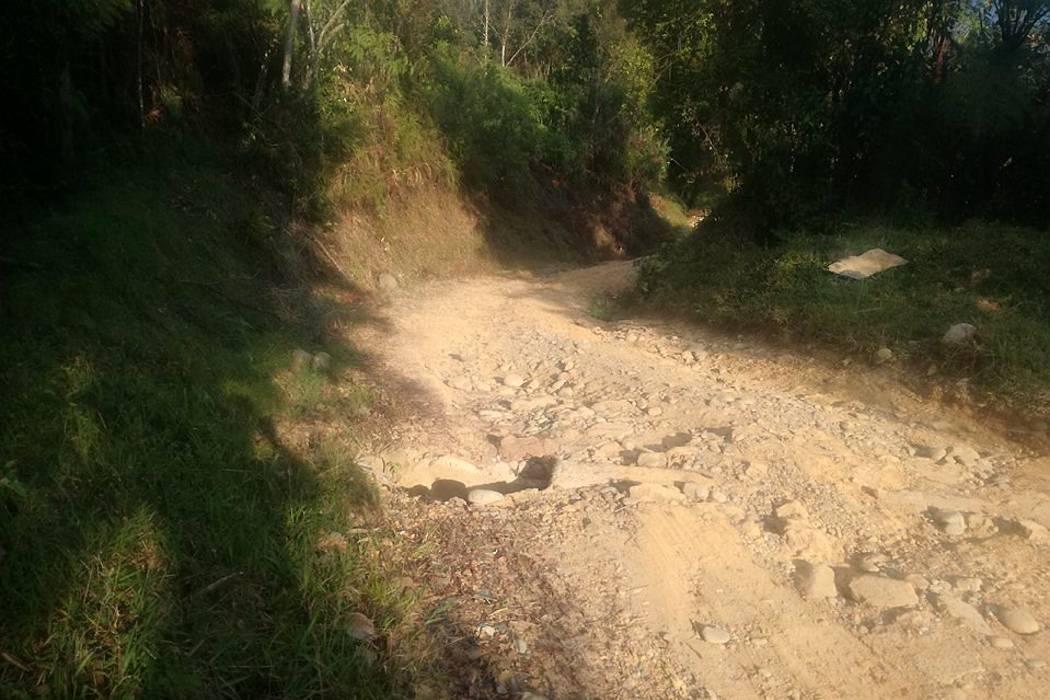 Esta es otra 'trocha' de Santander que la Gobernación dice que no pavimentará
