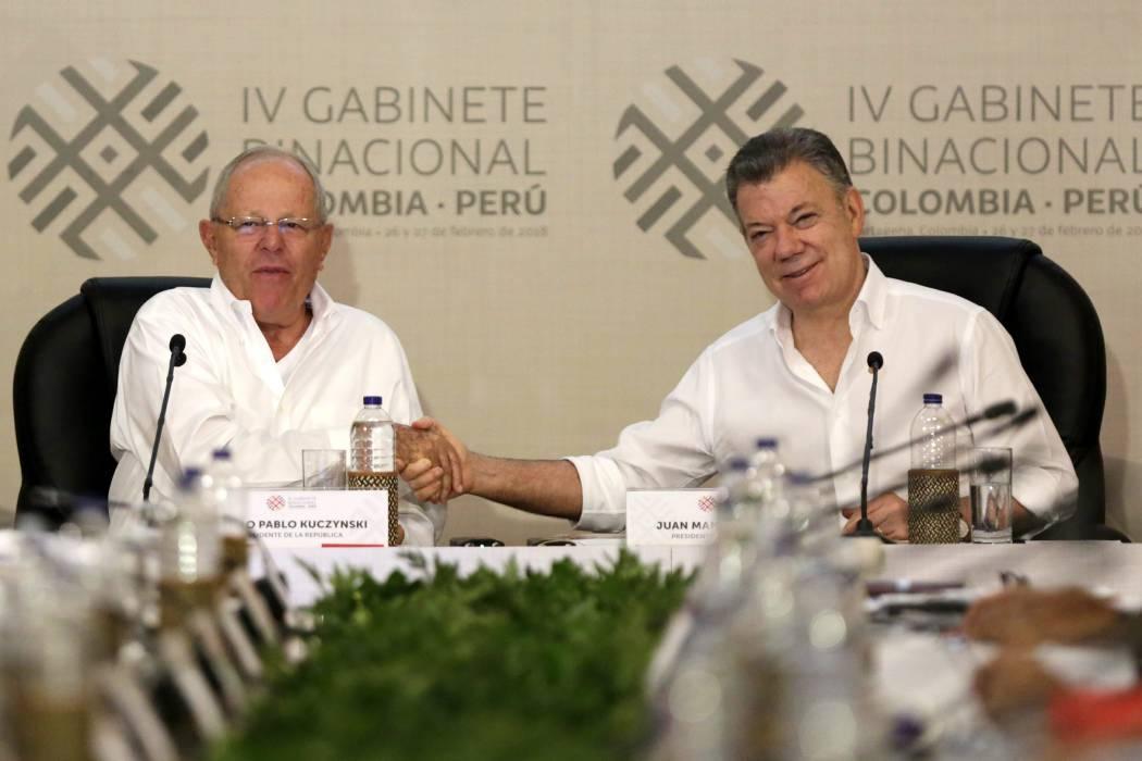 Santos y Kuczynski destacan cooperación para desarrollo regional