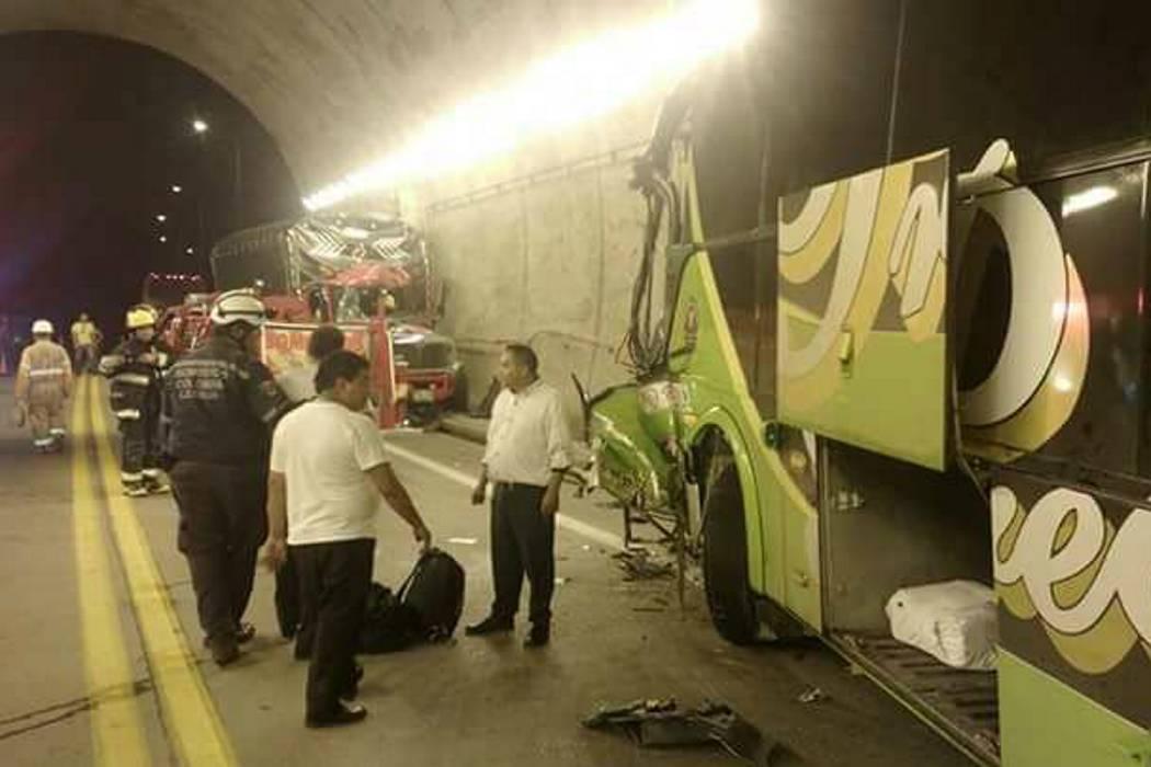 Accidente dejó dos heridos en uno de los túneles de la vía a Barrancabermeja