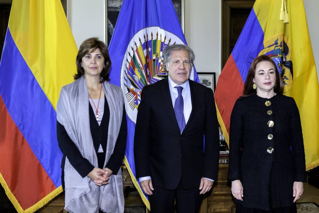 Cancilleres de Colombia y Ecuador piden ante la OEA apoyo contra el narcotráfico