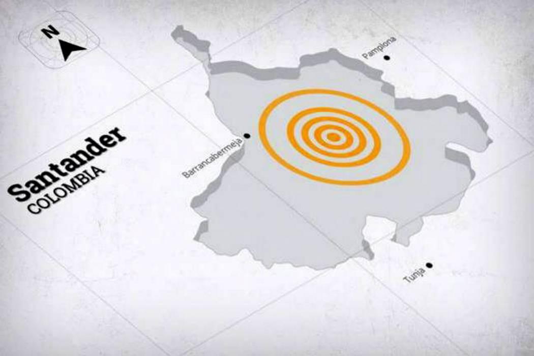 Un sismo sacudió a Bucaramanga en la madrugada de este lunes