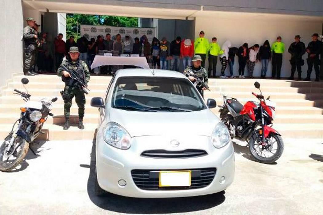 31 capturados por la Policía en Barbosa