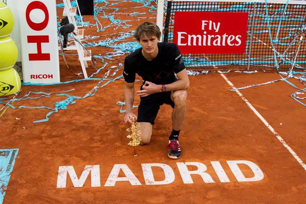 Zverev ganó en Madrid el tercer Masters 1.000 de su carrera