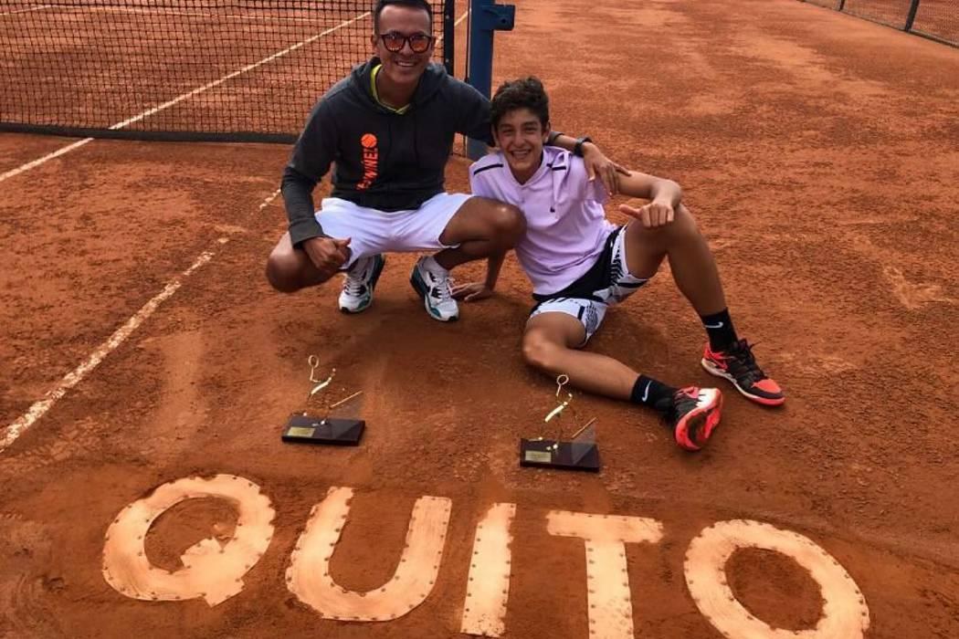 Tenista santandereano Nicolás Niño se coronó campeón en Quito