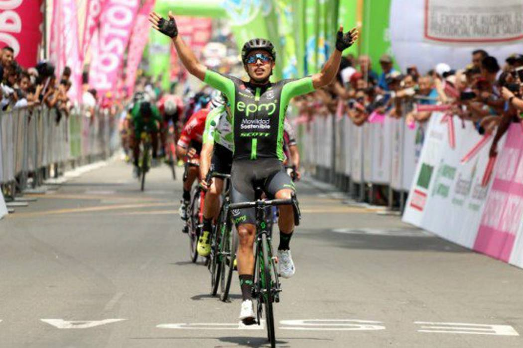 Diego Ochoa ganó la segunda etapa de la Vuelta a Colombia