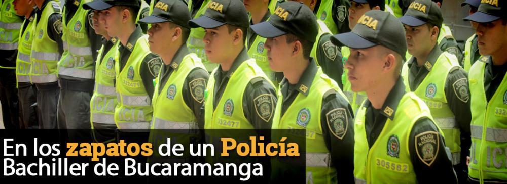 Policías bachilleres, luchando por el respeto en Bucaramanga