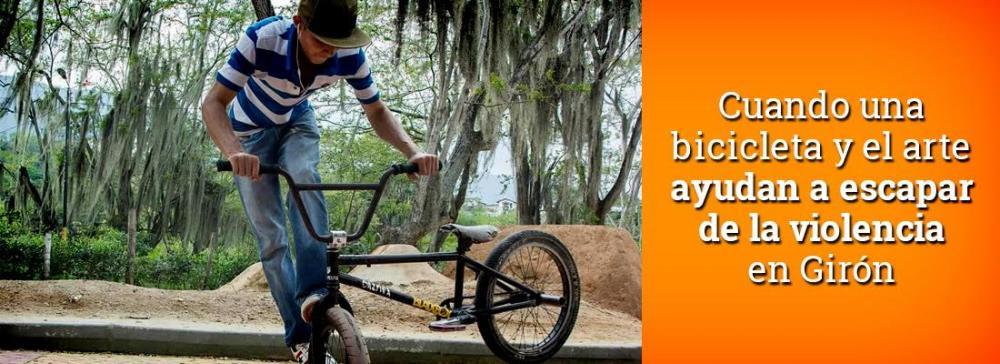 Cuando una bicicleta y el arte ayudan a escapar de las drogas y la violencia en Girón