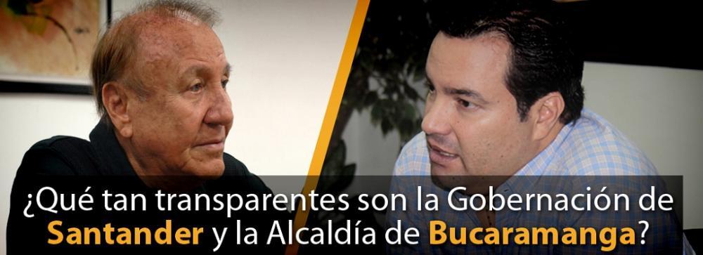 ¿Qué tan transparentes son la Gobernación de Santander y la Alcaldía de Bucaramanga?