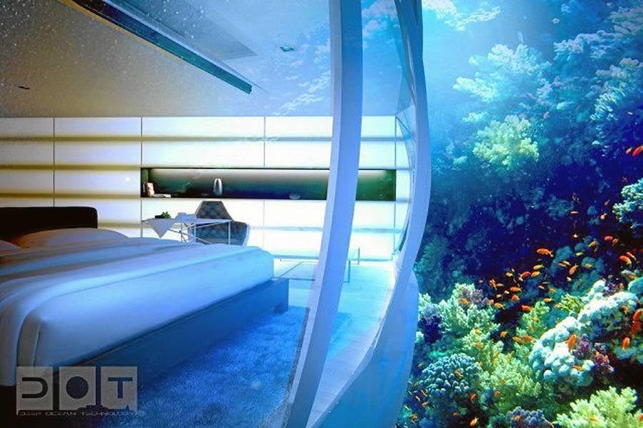 Construir n hotel con habitaciones submarinas en dubai for Habitaciones sobre el mar