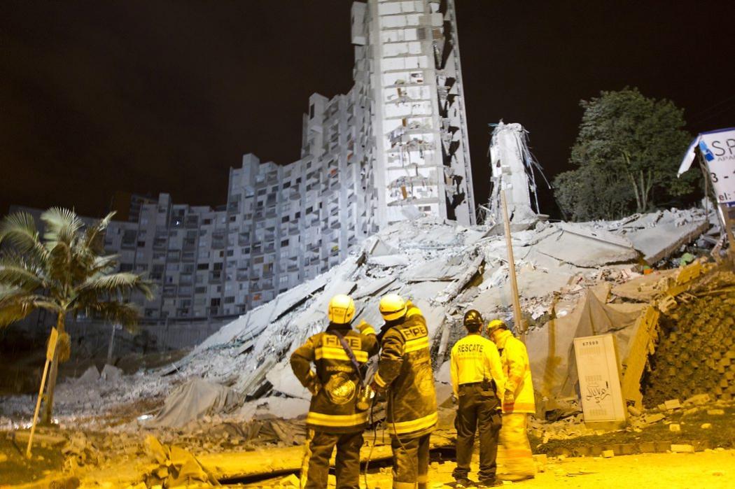 Imágenes de la tragedia en el edificio Space de Medellín