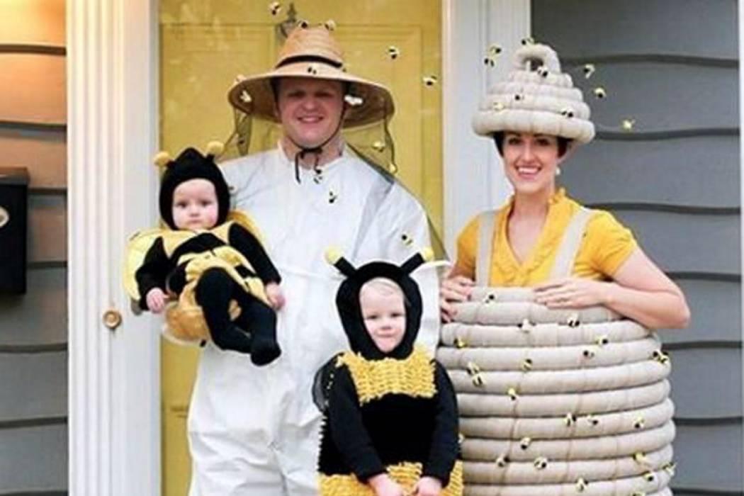 un apicultor con su panal y sus tiernas abejas