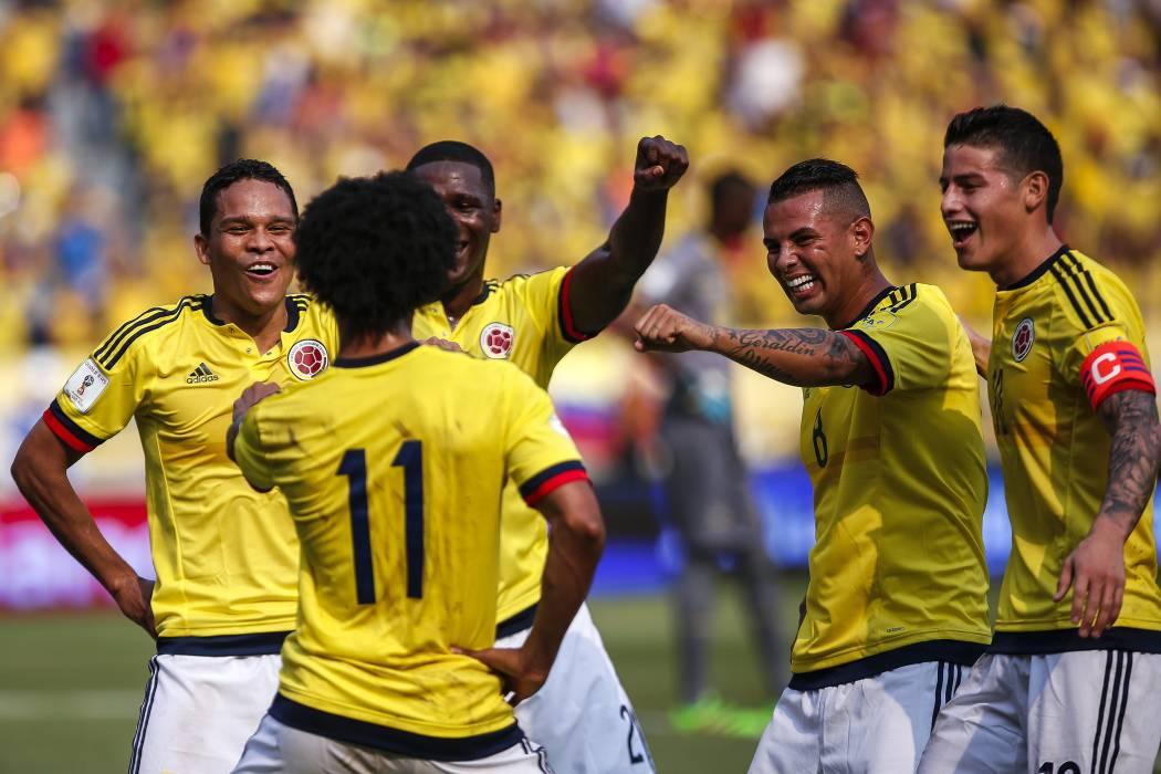 Las mejores imágenes del triunfo de  Colombia ante Ecuador