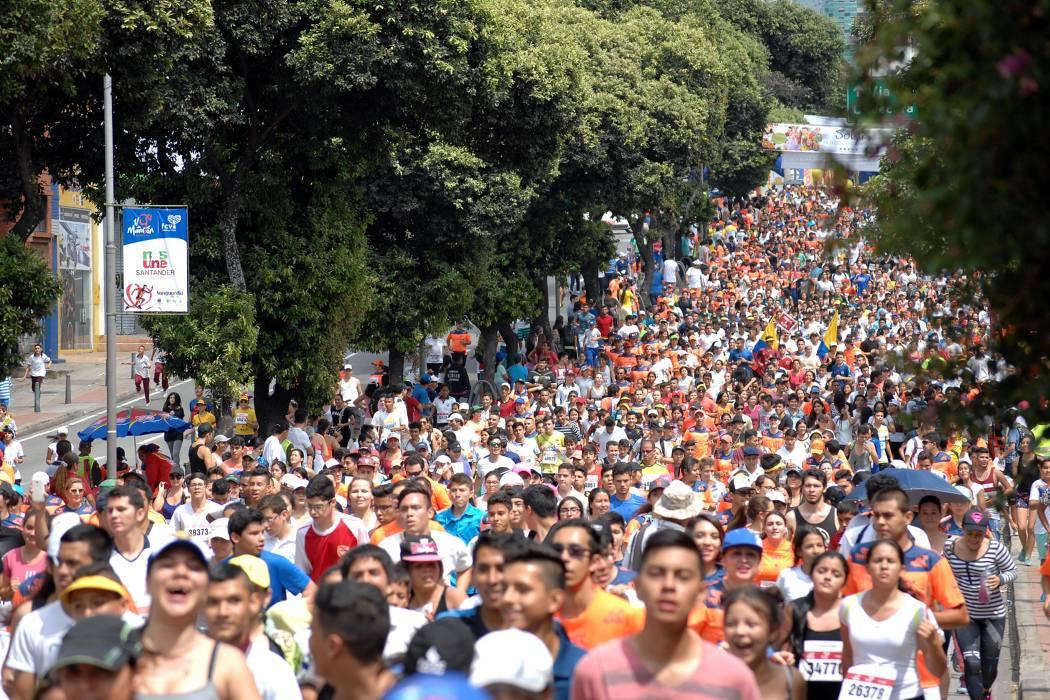 Imágenes del ¼ de Maratón en Bucaramanga 2016