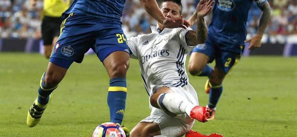 El técnico del Real Madrid elogió los minutos que tuvo el colombiano James Rodríguez en la victoria ante el Celta de Vigo en la liga española.