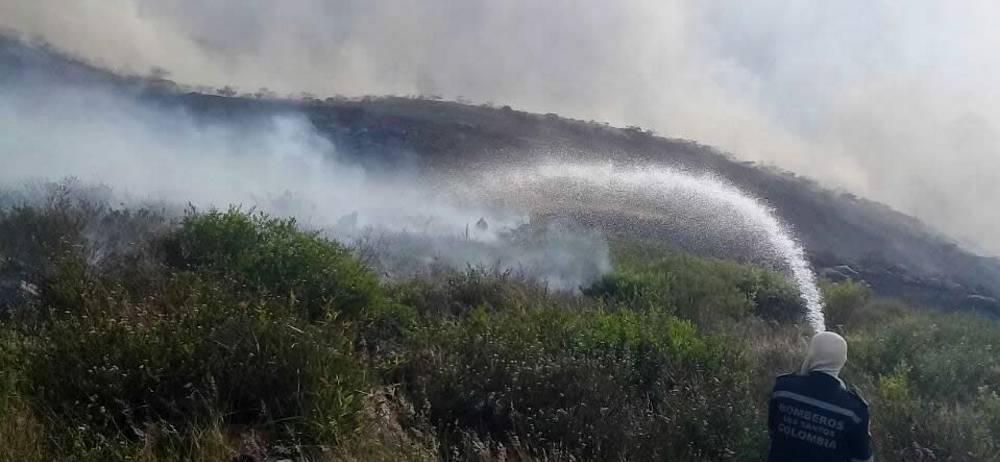 Las autoridades investigan las causas que propiciaron el fuego.