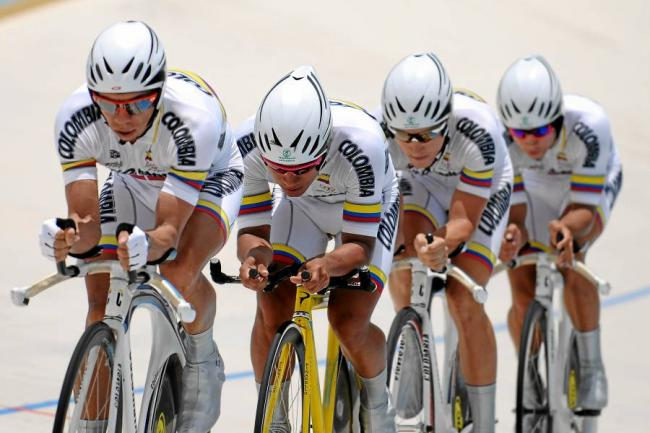 Colombia octavo en la persecuci n por equipos de ciclismo for Equipos de ciclismo