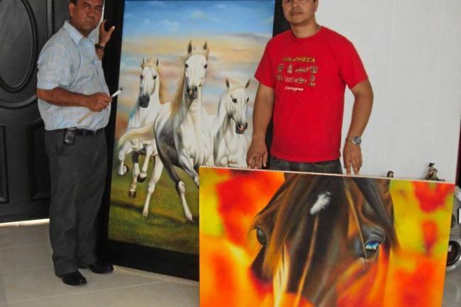 Pintores locales representaron al municipio en cartagena floridablanca - Pintores en cartagena ...