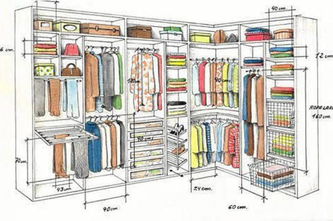 A organizar el armario de grandes y chicos galer a - Organizar armarios empotrados ...