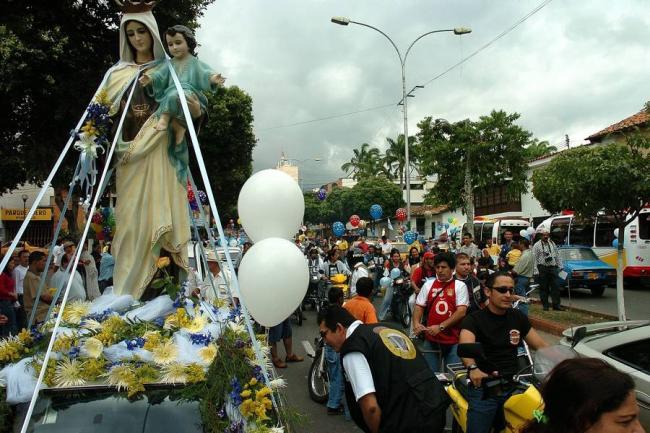 Mañana realizarán desfile de la Virgen del Carmen